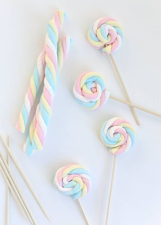 I adore these marshmallow ropes wrapped up into lollipops #myaltparty #altlovesmaurices