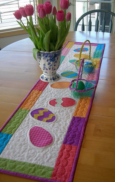 Easter runner by Lala216, via Flickr | Table runner / napkin ...