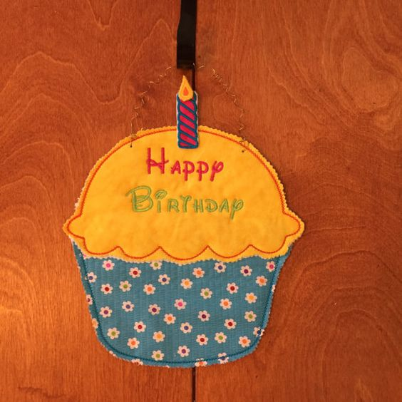 Happy Birthday Cupcake by ImagineFunCreations on Etsy