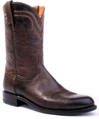 Mens Lucchese Mad Dog Roper Boots Chocolate T0122 Via