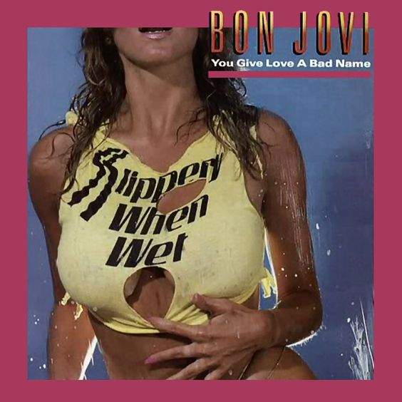 pics for gt bon jovi album covers slippery when wet