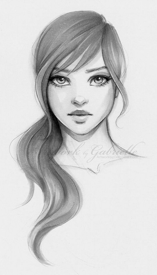 Gallery For gt Pencil Sketch Of A Girl Face