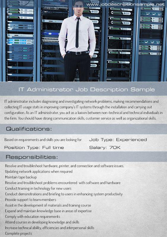 it-administrator-job-description-sample job description sample - administrator job description