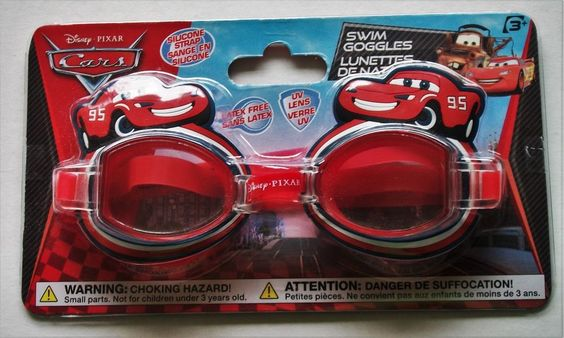Disney Pixar Cars Swim Goggles Red Children's 3+ Swimming Cartoon Animation New #Disney