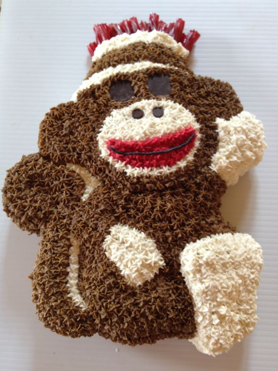 Sock Monkey Birthday Cake but actually cupcakes Things ...