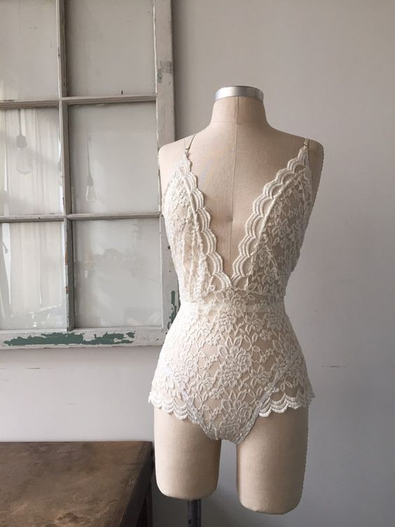 Bride to Be Ivory Lace Lingerie Bodysuit by siobhanbarrett on Etsy