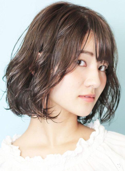 ボブ 結べる 石田ゆり子さん風パーマボブ Beautrium Ginzaの髪型