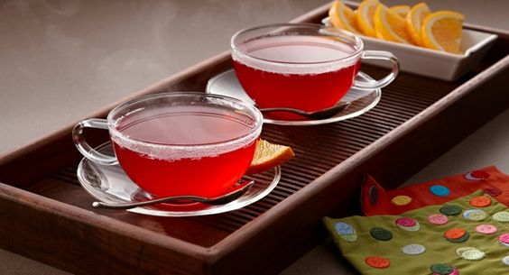 Warm Cranberry Punch : A warm cranberry punch is just right for a holiday open house. Bring in the holiday cheer with its sweet spicy aroma and seasonal color.