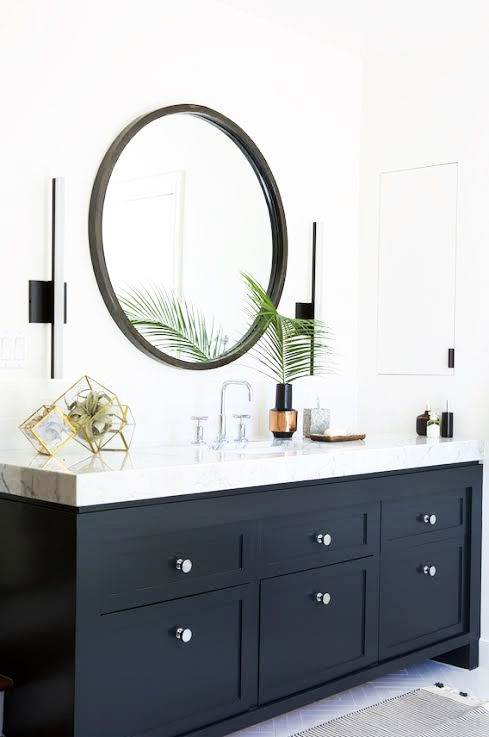 Inspiration for the spare bathroom vanity reno ideas - Papier vinyl salle de bain ...