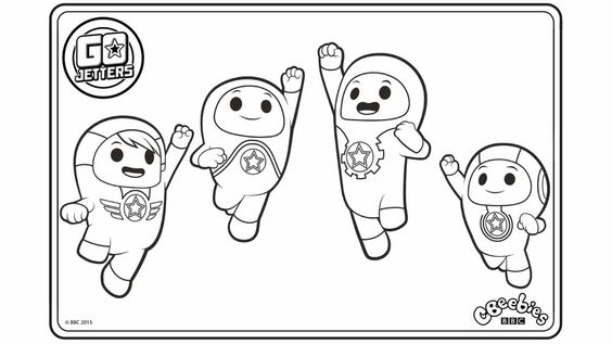 Colouring Go Jetters