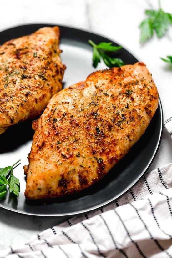 Juicy Air Fryer Chicken Breasts