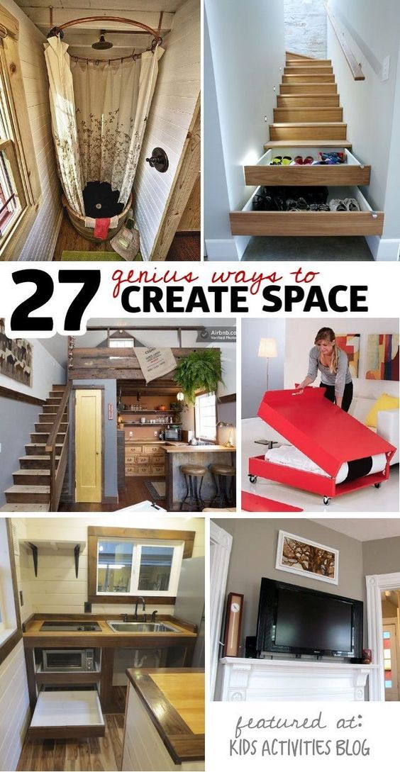 Small space organization organization ideas and small spaces on pinterest - Small space storage ideas pinterest decor ...