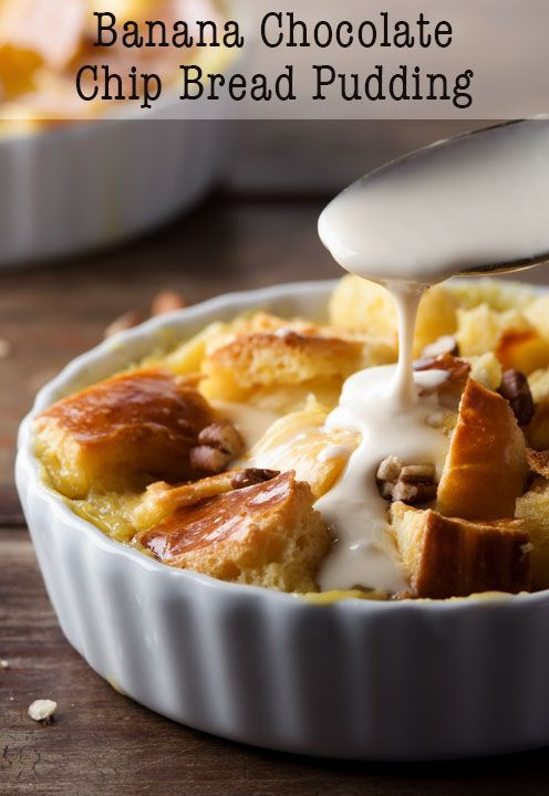 Chocolate Chip Bread Pudding | Bread Puddings, Chocolate Chip Bread ...