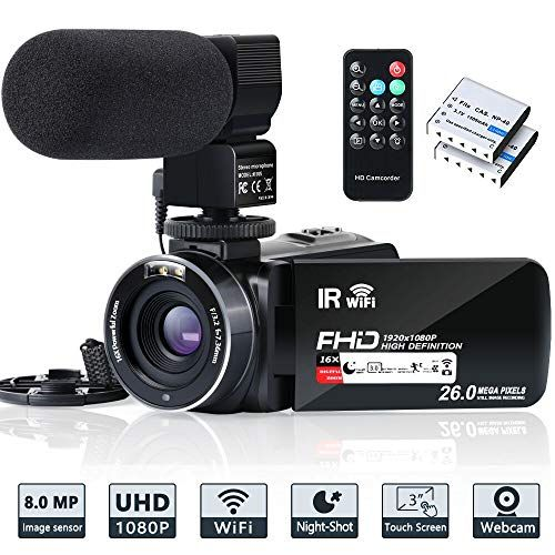 Video Camera Camcorder Wifi Ir Night Vision Fhd 1080p 30fps Youtube Vlogging Camera Recorder 26mp 3 0 Touch Screen 16x Vlogging Camera Video Camera Camcorder