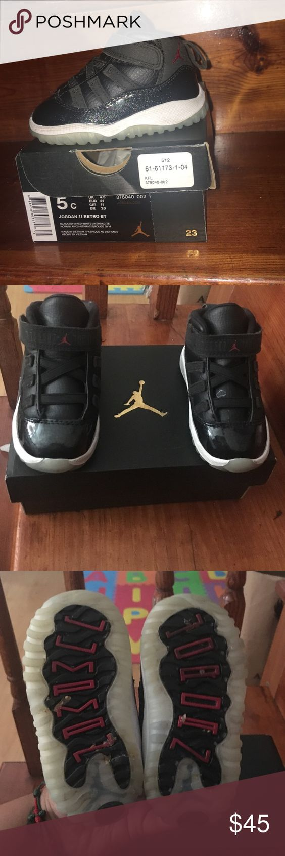 Toddlers Jordan Retro 11's In great condition! Worn for a few months only so no scratches, scuffs, etc. Jordan Shoes Sneakers