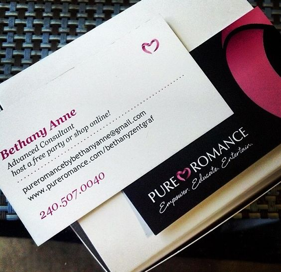 Business and thanks on pinterest for Pure romance business cards