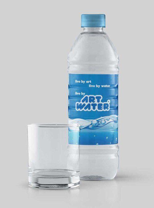 Water Bottle Label Psd Mockup Water Bottle Bottle Bottle Labels