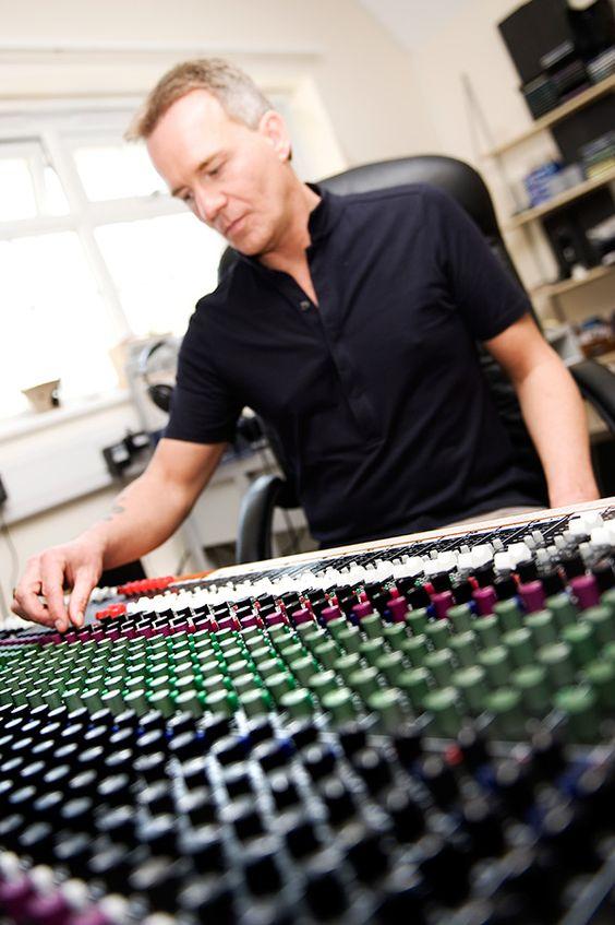 Glenn mixing a recording