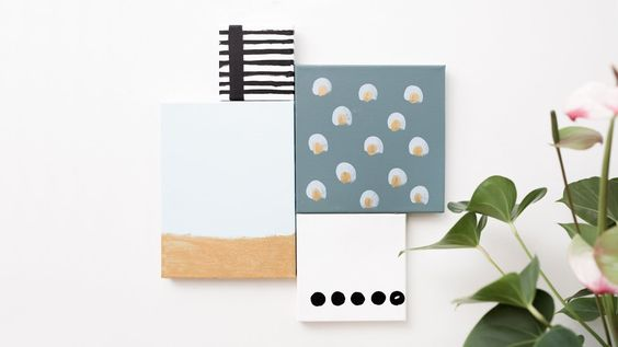 DIY: Homemade art by Søstrene Grene // Join the canvases together with glue