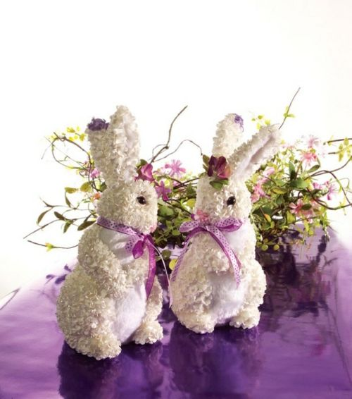 flowers decoration for easter bunny spring table decoration: