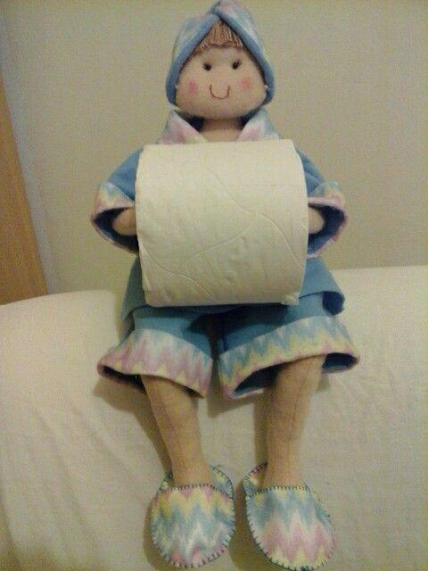 Boneca banheiro azul