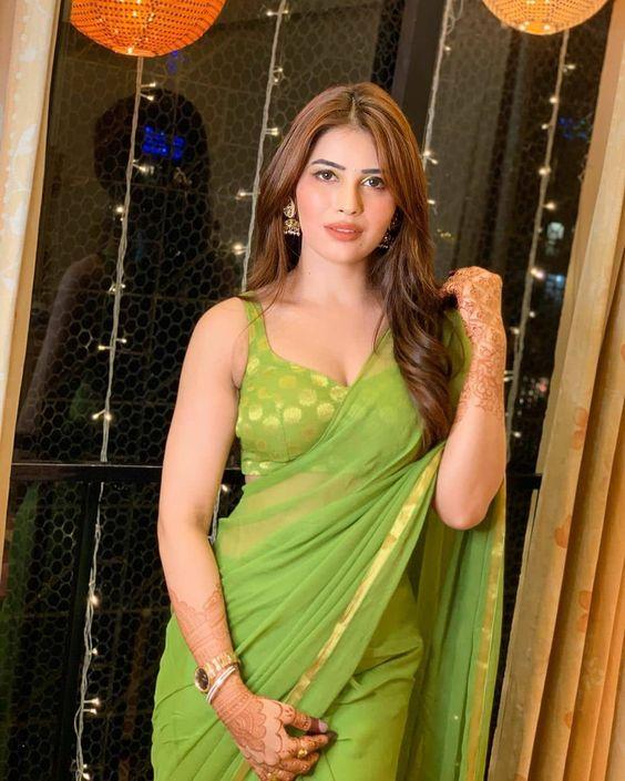 Ranjana Godara Looking in Hot Saree #ranjanagidara #plainsaree
