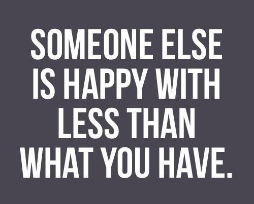so just be happy