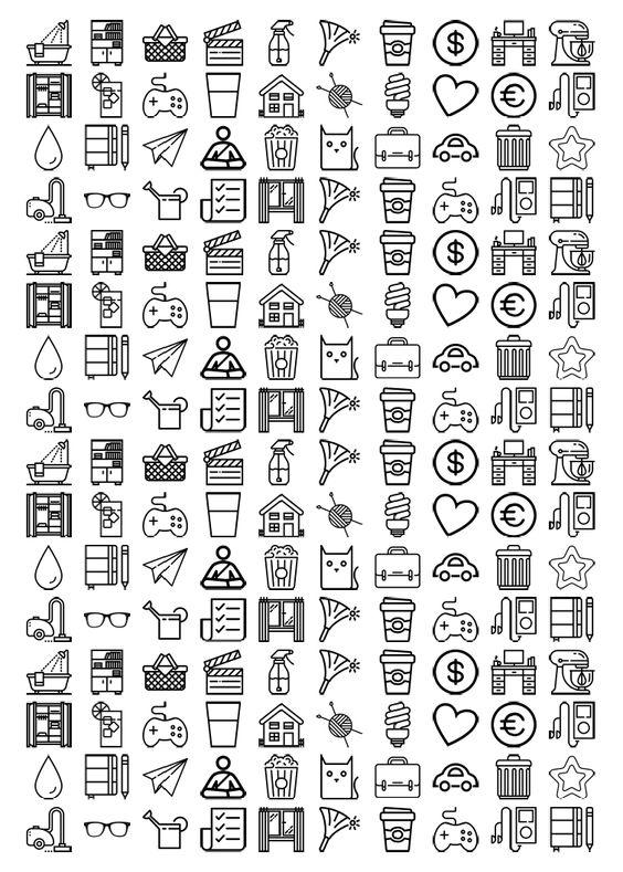 lorelei lee 39 s plan bar sticker take 3 icon stickers for your planner erin condren. Black Bedroom Furniture Sets. Home Design Ideas