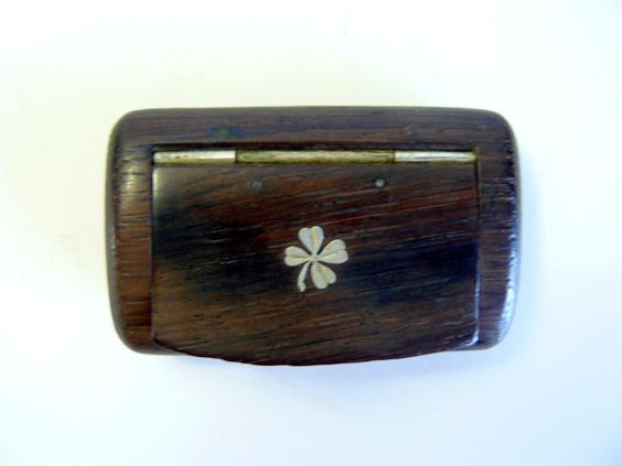 antique lucky shamrock snuff box by artyfactz on Etsy, $79.00