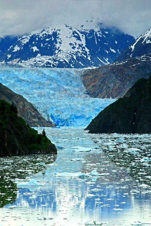 Sawyer Glacier, Inside Passage, Alaska - photographer Jason Schlosberg