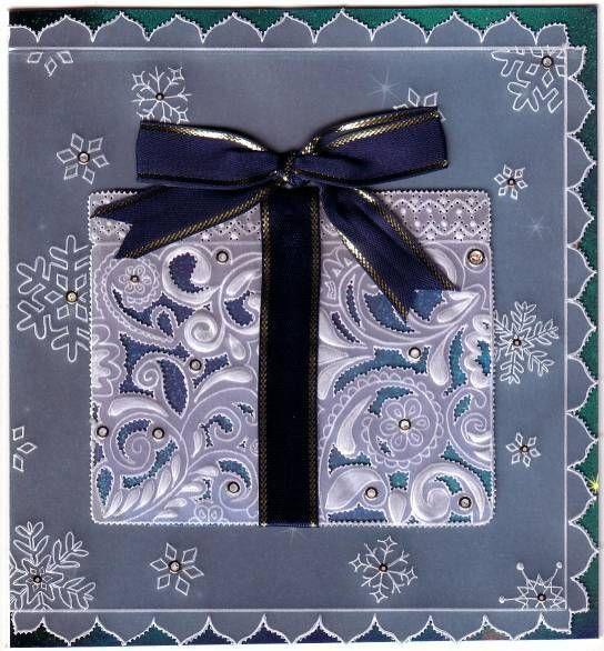 cadeau de no l pergamano parchment craft dentelle de papier christmas present https www. Black Bedroom Furniture Sets. Home Design Ideas