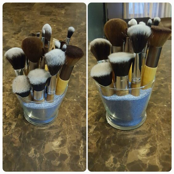 This is better than having your brushes scattered in a makeup box