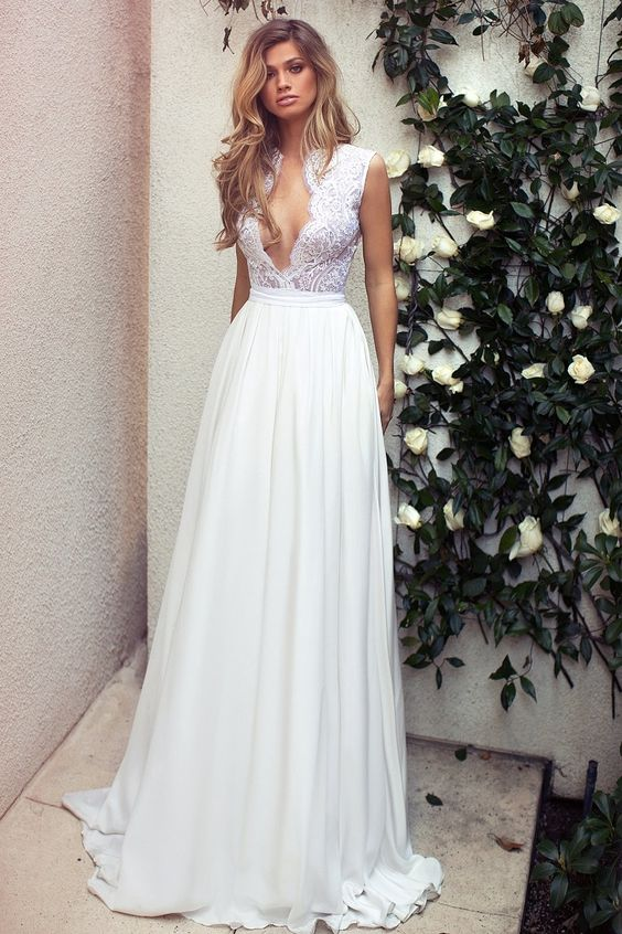 Lurelly Bridal - Belle Lookbook Sexy Plunge Neckline Wedding Dresses: