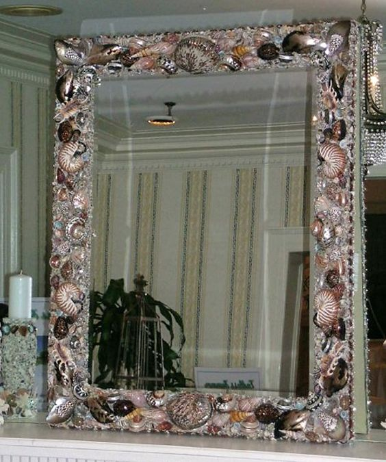 polished seashell mirror