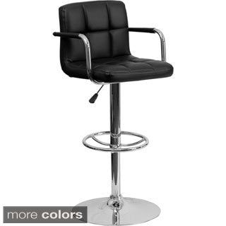 Shop for Upholstered Contemporary Armrest Swivel Bar Stool. Get free shipping at Overstock.com - Your Online Furniture Outlet Store! Get 5% in rewards with Club O!