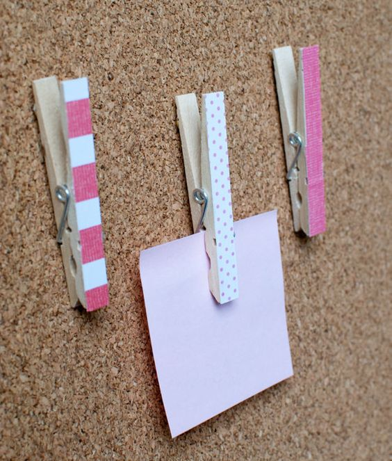 5 decorative cork board clothespins get crafty for How to make a bulletin board without cork