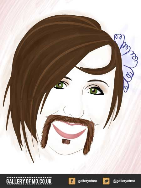 Portrait from 2011's Gallery of Mo. Anna Gladwin donated £10.00 to Movember and had a portrait created by Adam Campion. www.galleryofmo.co.uk