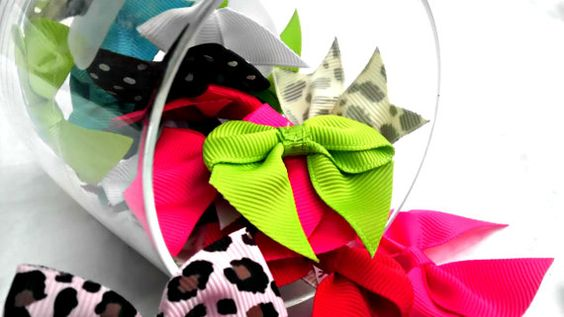 15 Mini hair bow/ Great For Newborns by AmalieBowtique on Etsy, $12.00