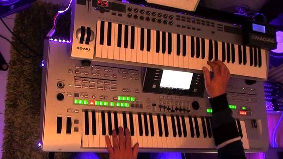 Boney M -  Rasputin played on tyros 3 with organ sounds