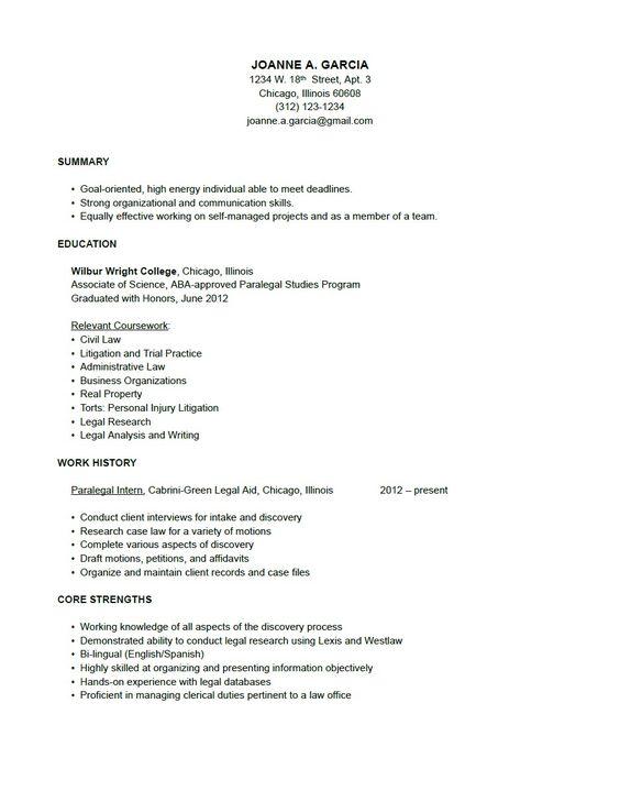 Litigation #Paralegal Resume Sample (resumecompanion.com) | court ...