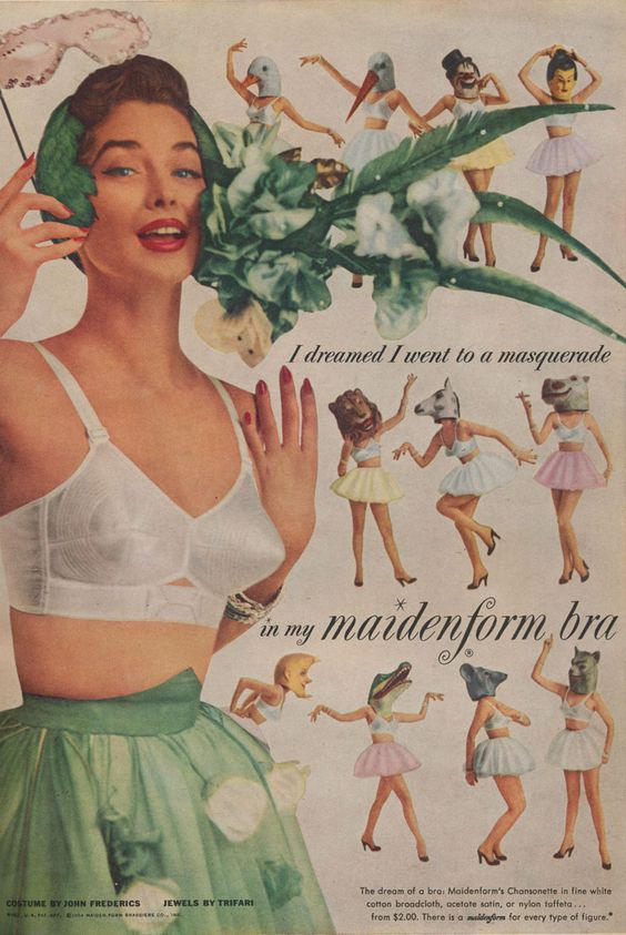 Last night I dreamt the strangest thing… | Maidenform vintage advertisements