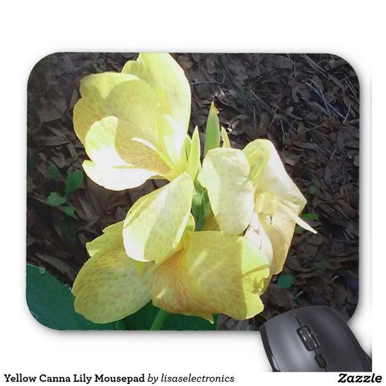 Yellow Canna Lily Mousepad
