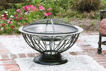 Enjoy an autumn night safely and comfortably with this fun and versatile heating solution.  Fire Sense Stainless Steel Urn Fire Pit $147.99 efireplacestore.com