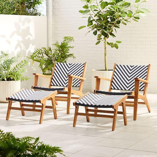 Bondi Outdoor Lounge Chair Ottoman Set In 2020 Lounge Chair Outdoor Pool Lounge Chairs Outdoor Chair Set