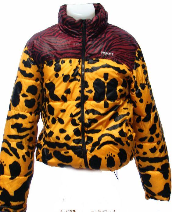 Trukfit L'il Wayne Respect Few Men's Puffer Jacket Leopard Zebra Print Medium #Trukfit #Puffer