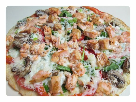 Classic Grilled Salmon Flatbread from katenkaboodle.com for Gorton's Seafood Challenge