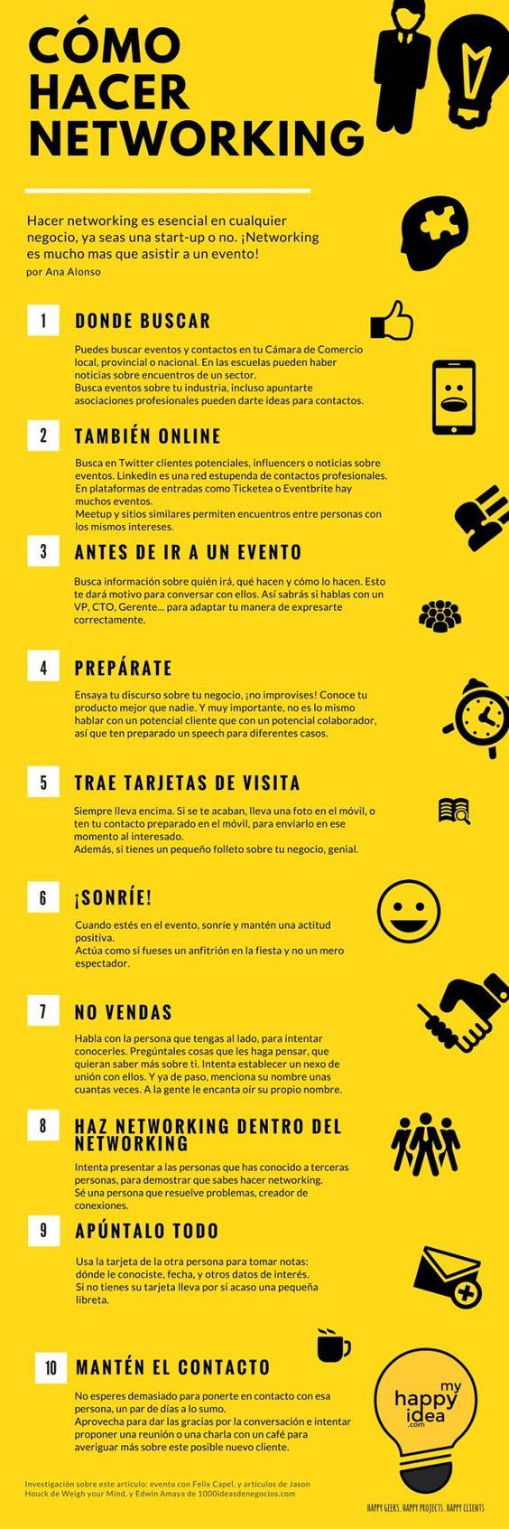 10 consejos para hacer Networking #infografia #infographic #marketing | TICs y Formación