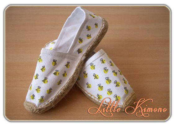 Zapatillas Customizadas · Sweet Bees  ❣ Handmade Little Kimono