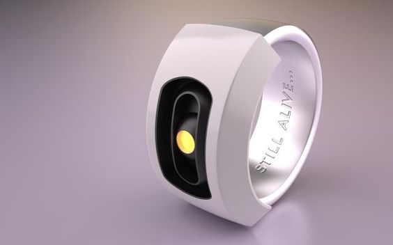 Searching for a companion to your plush Weighted Companion Cube? Here's the GLaDOS ring.
