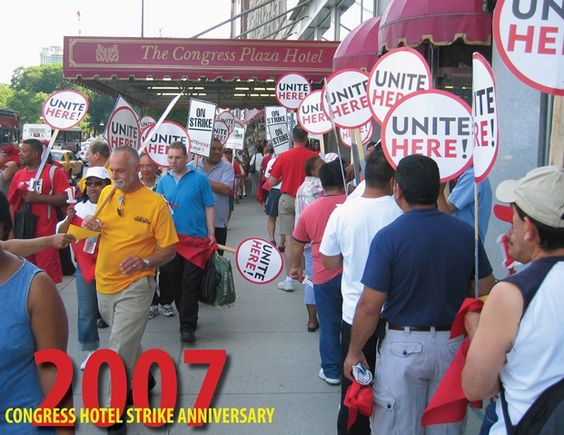 The strikers had marched through 4 winters and each have walked over 5,000 miles by the 4 year anniversary.